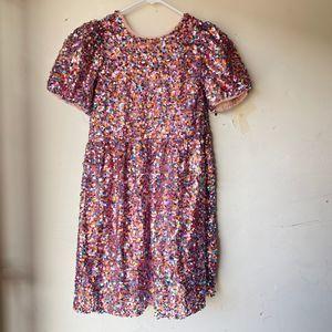 Zara pink mini dress size 11 -12 kids sequin